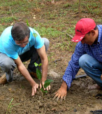 Planted the first Maracuja in Itacoatiara